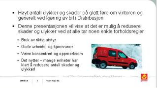 """Slide fra Posten sitt konsept """"Vær sikker""""."""